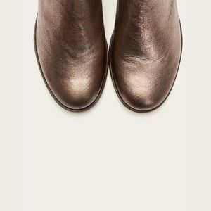 Frye Elyssa Shootie Golden Silver Ankle Bootie